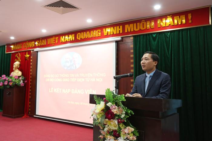 Chi bộ Cổng Giao tiếp điện tử Hà Nội kết nạp Đảng viên mới - Ảnh 2.