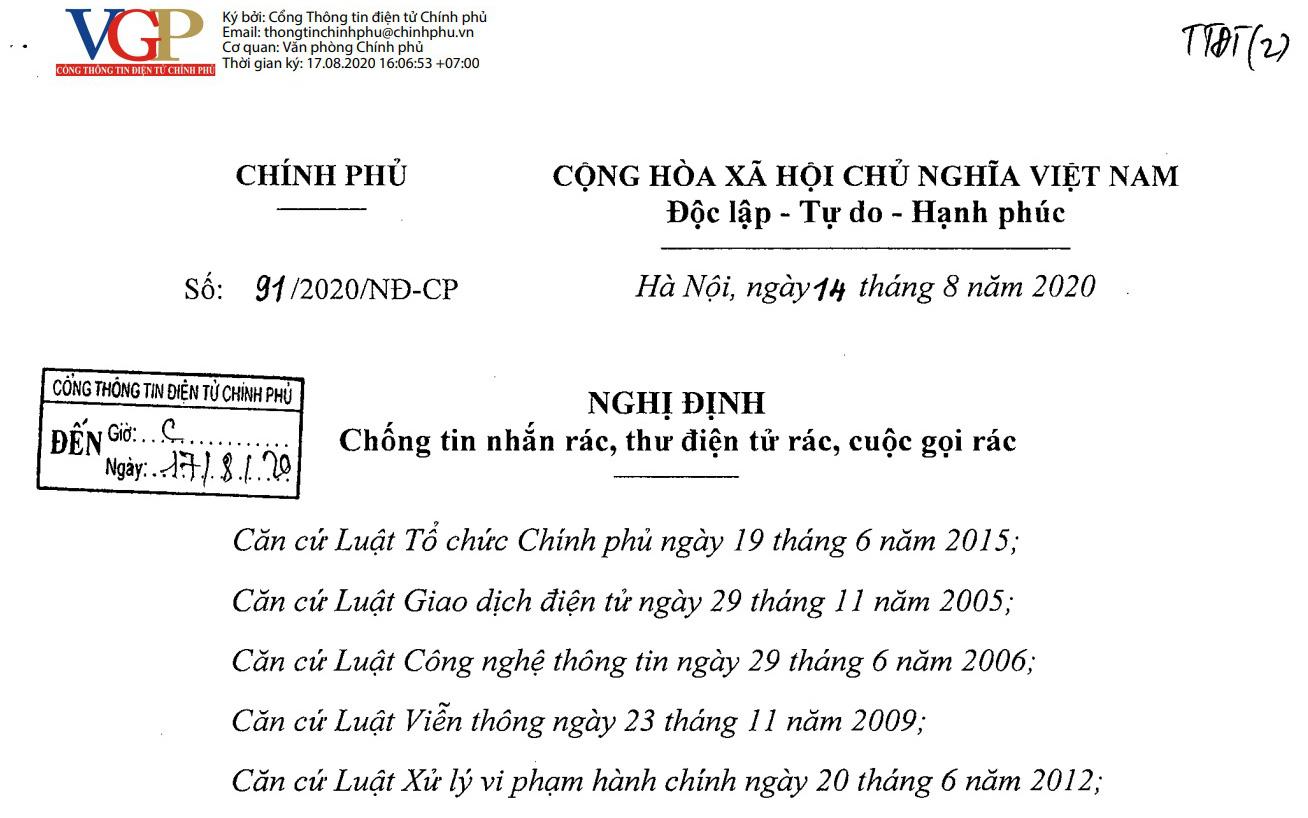 Sở Thông tin và Truyền thông Hà Nội tiếp tục xử phạt 1 tổ chức có hành vi thực hiện cuộc gọi rác