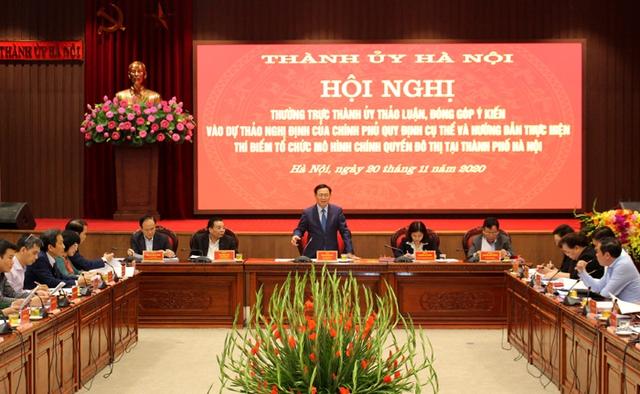 Thành ủy Hà Nội góp ý vào Dự thảo Nghị định của Chính phủ về thí điểm mô hình chính quyền đô thị - Ảnh 1.