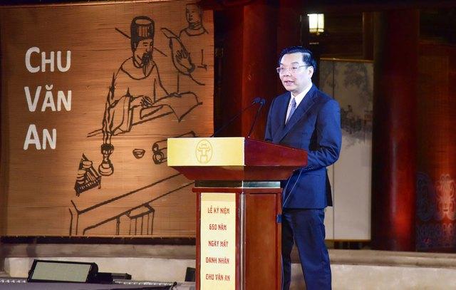 Tổ chức trọng thể Lễ kỷ niệm 650 năm Ngày mất danh nhân Chu Văn An - Ảnh 3.