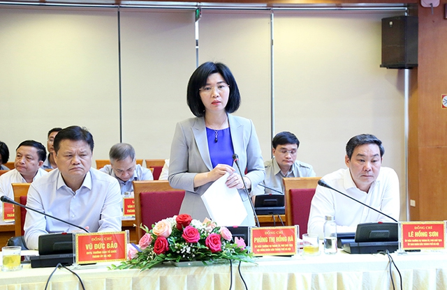 Bí thư Thành ủy Vương Đình Huệ làm việc với lãnh đạo quận Hà Đông - Ảnh 5.