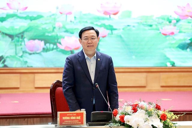 Bí thư Thành ủy Vương Đình Huệ làm việc với lãnh đạo quận Hà Đông - Ảnh 6.