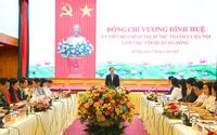 Bí thư Thành ủy Vương Đình Huệ làm việc với lãnh đạo quận Hà Đông