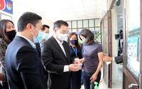 Chủ tịch UBND Thành phố Chu Ngọc Anh kiểm tra công tác phòng, chống dịch Covid-19 tại một số đơn vị