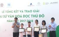 Trao giải Đại sứ Văn hóa đọc Thủ đô năm học 2017 - 2018